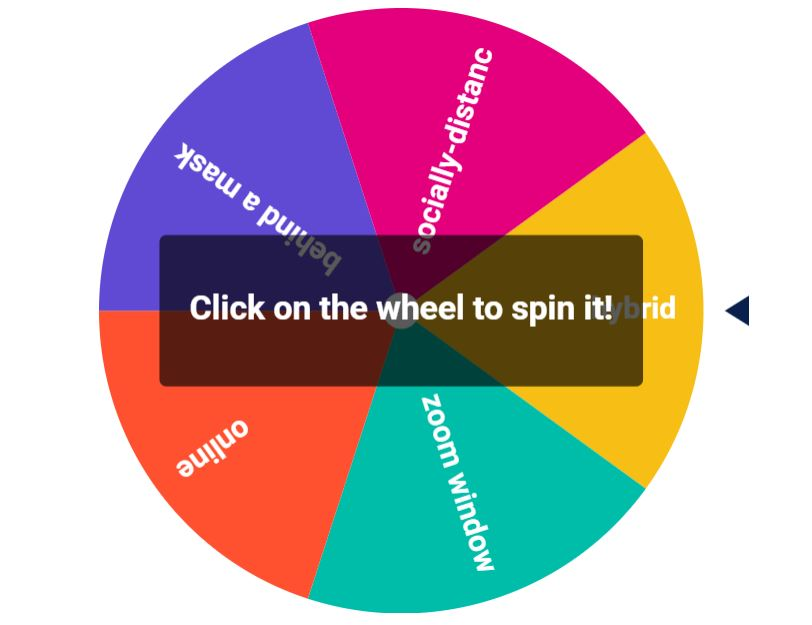 colourful wheel with topics