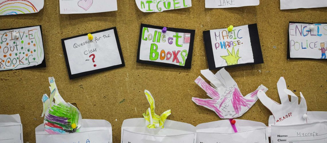 Students' work and classroom language